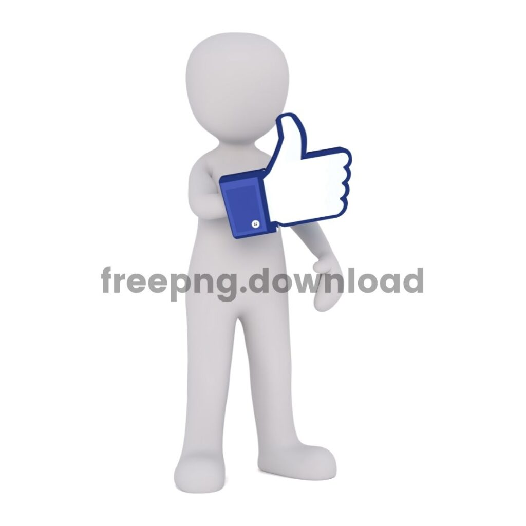 Toy illustration facebook thumbsup PNG